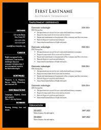Resume Format Download In Ms Word 6 Free Cv Format Download In Ms Word St Columbaretreat House