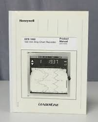 Details About Honeywell Dpr 1000 100mm Strip Chart Recorder Product Manual 0897