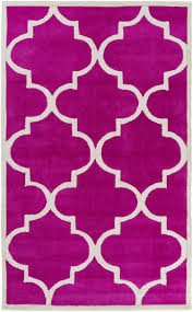 andover mills duffield hot pink light gray geometric rug