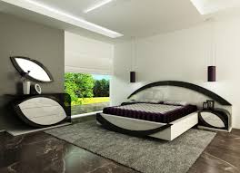 King Size Bed Bedroom Sets White And Grey Wall Modern King Size Bed With White Bed Frame On