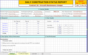 Daily Report Format In Excel Construction Daily Report Template Excel