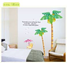 palm tree wall stickers: pcs set vinyl large size summer palm tree design wall stickers for bedroom decorations decals