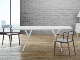 Tavoli Da Pranzo In Legno Design : Tavolo di design cm da pranzo in legno bianco lisala