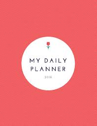 Custom Daily Planner Personalized Daily Planner Cover Page Personalized Planner Page