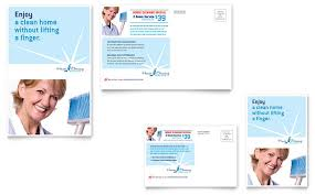 Housekeeping Flyers Templates House Cleaning Housekeeping Postcard Template Word Publisher