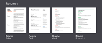 google docs resume 4 awesome google drive templates to help students create