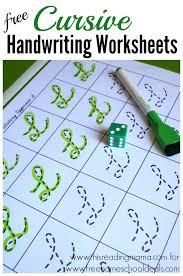 FREE CURSIVE HANDWRITING WORKSHEETS (instant download) | Free ...