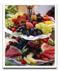 How To Decorate Fruit Tray A Party Table Decorated with a Chaotic Mixed Fruit Tray Aunt Ruth 79