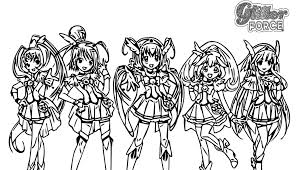 Note that the previews will show in low resolution. Glitter Force Doki Doki Coloring Pages Printable Super Kins Author