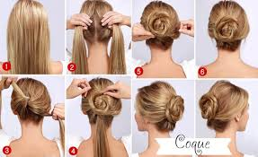 easy quick twisted bun hairstyle