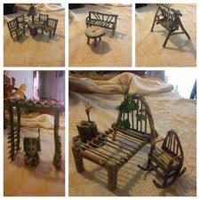 furniture fairy. DIY Fairy Furniture, Simple, I Made These Myself. #fairyhouse Furniture