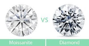 Moissanite Vs Diamond Side By Side Bbbgem