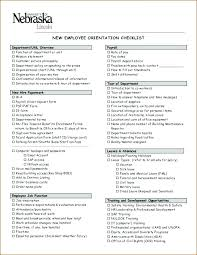 Staff Orientation Checklist New Employee Information Form Template Emergency Contact Word Hire