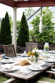 Outdoor Table Decor 12 Stylish Porch Deck And Patio Decor Ideas Setting For Four