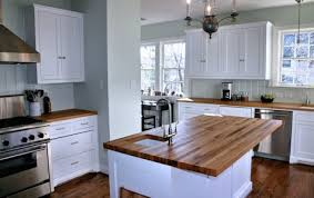 reclaimed white oak island top and counter tops