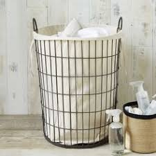 Wire Laundry Hamper With Liner