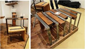 unique industrial furniture. wood and metal combine to create industrial looking furniture unique r