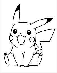 Pikachu Pokémon Coloring Page