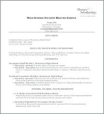 High School Education On Resume Resume Format High School Airexpresscarrier Com