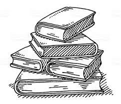 Pile De Livres De Dessin Lenseignement Cliparts Vectoriels Et