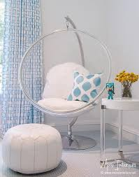 chairs for teen bedrooms. White And Blue Girl Room With Eero Aarnio Hanging Bubble Chair Indoor Or Outdoor Stand Chairs For Teen Bedrooms O