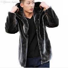 best quality fall mens faux fur coat hood motorcycle hooded leather jacket men winter mink coats casual outerwear skin jackets purple black coffee at