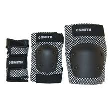 Smith Safety Gear Scabs Knee Elbow Wrist Guard Set Pack Of 3