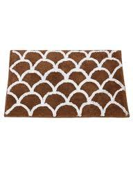 house this brown white cotton bath rug