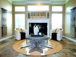 oval jute rug round 5 living room eclectic with large