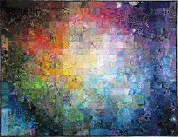 Batik colorwash quilt, 50.5