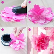tissue paper flower centerpiece ideas tissue glitter tulle flower poms from the swan princess party