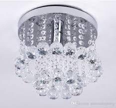 living gorgeous mini flush mount chandelier 23 tremendeous crystal in style 1 light spiral rain drop