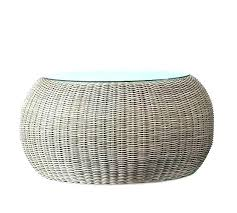 round rattan coffee table wicker coffee table with glass top round wicker coffee tables table with