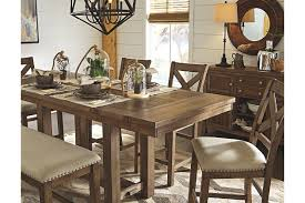 dining room table height. grayish brown moriville counter height dining room table view 7