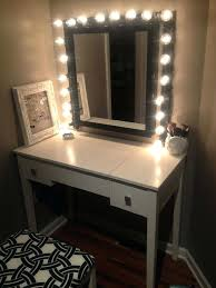 table mirror with lights bathroom white wooden makeup table with lighted mirror vanity table mirror lights