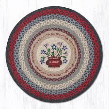 americana bouquet braided jute round area rug 015
