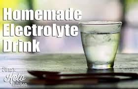 homemade electrolyte drink keto
