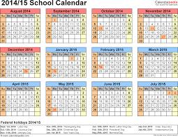 Calendar Blank 2015 School Calendars 2014 2015 Free Printable Word Templates