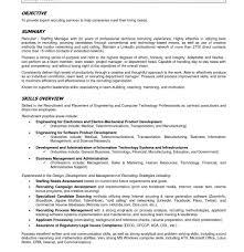 Entryevel Recruiter Resume Objective Sample Vesochieuxo College