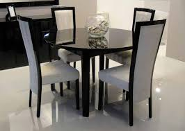 brilliant black dining room set round with black round dining room table