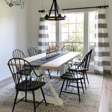 diy rustic furniture plans. DIY Modern Farmhouse Dining Table \u2013 The Leasha Diy Rustic Furniture Plans