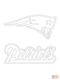 new england patriots logo coloring page patriot football pages