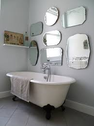 Frameless Mirror For Bathroom How To Hang A Display Of Vintage Mirrors Vintage Mirrors