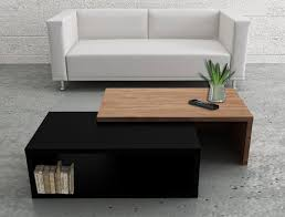 contemporary jazz two tone temahome coffee table in black and walnut thumbnail