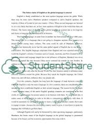 the future status of english as the global language is assured  the future status of english as the global language is assured essay example