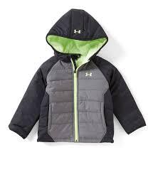 under armour puffer jacket. under armour little boys 2t-7 werewolf color block hoodie puffer jacket c
