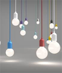 bare bulb lighting. Funky Coloured Lamp Holder \u0026 Flex Bare Bulb Lighting