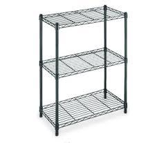 hdx 3 tier black wire shelving unit durable steel adjule stackable shelf