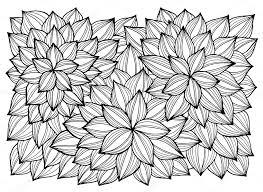 抽象的な花のグリーティング カード大人の塗り絵のページ ストック