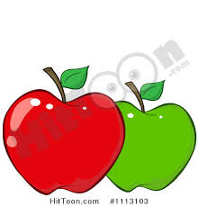 green and red apples clipart. green apple clipart and red apples r